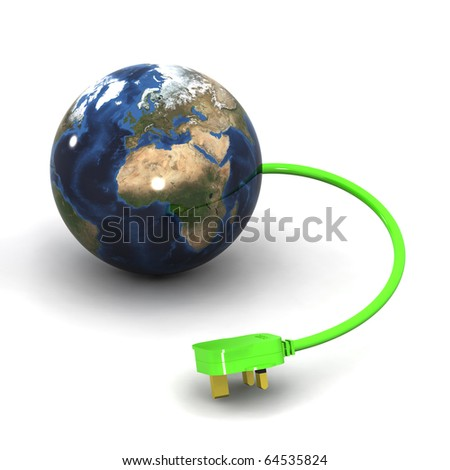 A Colourful 3d Rendered Global Energy Concept Illustration #64535824
