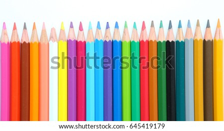 colored pencils on white background #645419179