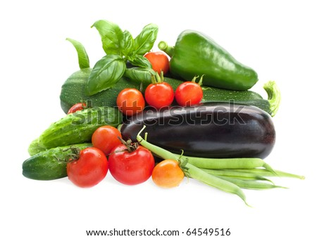 Colorful mix of many different fresh vegetables #64549516