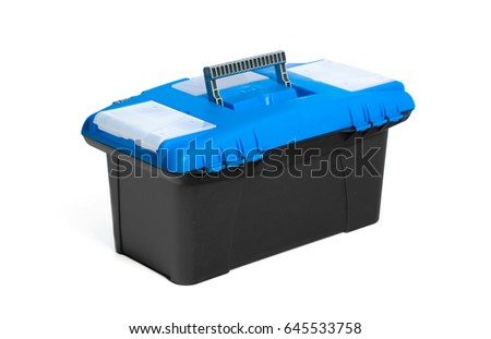 Toolkit box isolated on the white background #645533758