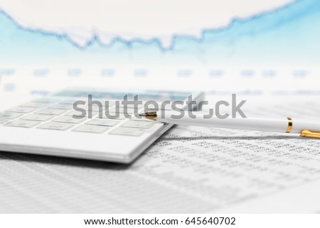 Financial accounting stock market graphs and charts analysis