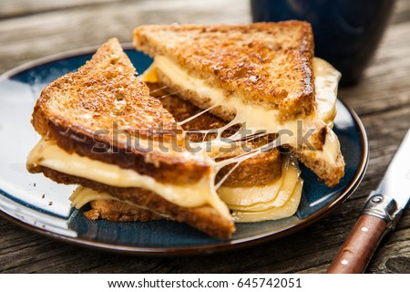 Grilled cheese sandwich Royalty-Free Stock Photo #645742051