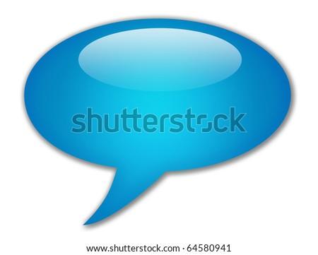 Speech bubble blank