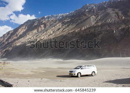 Leh Ladakh, India - May 3, 2017 : The journey is about to start, Nubra Valley, Leh Ladakh. #645845239