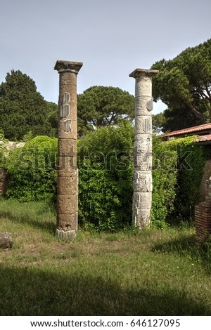 Ostia - ancient harbor of Rome #646127095
