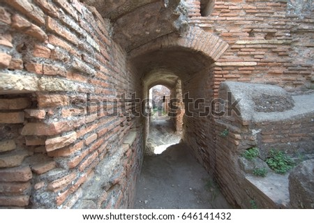 Ostia - ancient harbor of Rome #646141432