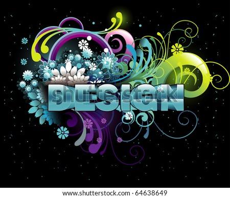 3d design text illustration vector #64638649