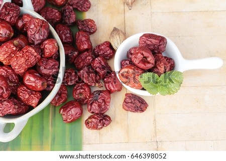 Dried jujube  #646398052