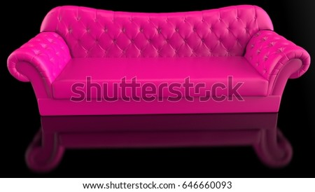 Pink luxury sofa. 3D illustration. 3D CG. High resolution. #646660093
