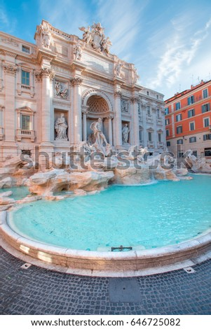 Trevi Fountain (Fontana di Trevi) in Rome, Italy. #646725082