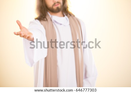 Photo of Jesus Christ reaching out his hand