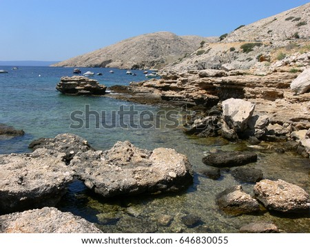 Rocky coast in Croatia #646830055