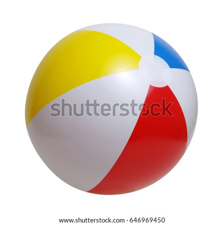 Beach ball isolated on a white background #646969450