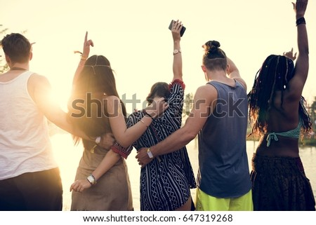 People Standing Together Unity Friendship #647319268