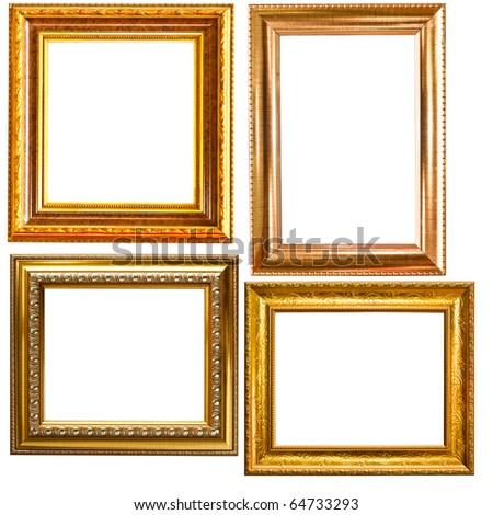 Isolated vintage photo frame