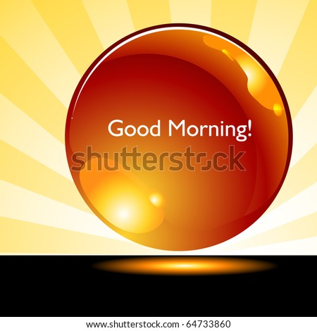An image of a good morning sunrise background button.