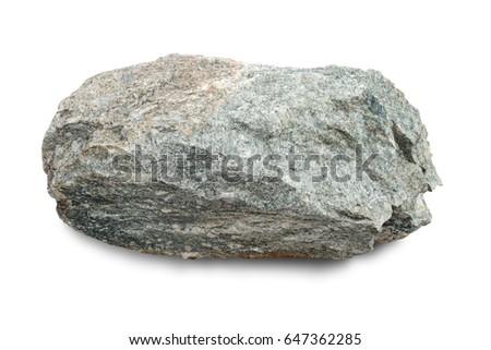 Natural granite stone isolated on white background, with clipping path. #647362285