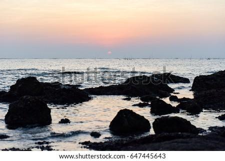 Sunshine and beautiful sea view #647445643
