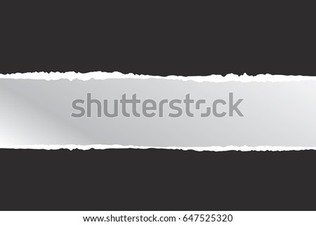 ripped paper black  , vector and illustration on background , with space for text #647525320