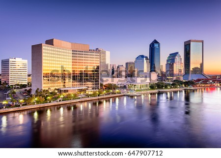 Jacksonville, Florida, USA downtown city skyline.