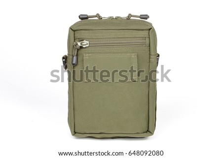 A tactical green bag with a handle for things #648092080