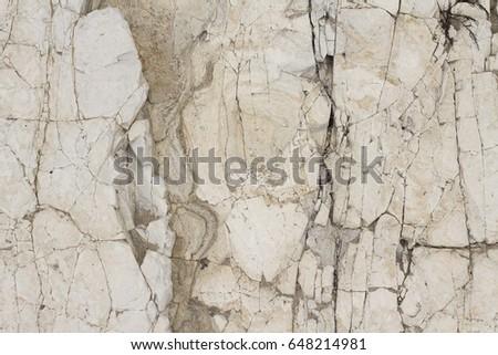 Rock face on a beach in Santa Barbara #648214981
