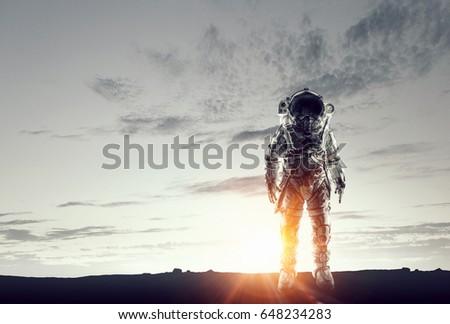 Astronaut in space suit #648234283