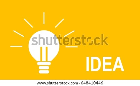 Illustration of bright bulb for a great ideation concept and creative thinking. #648410446