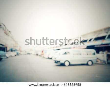 Blurred of car on road #648528958