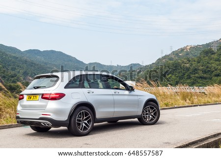 Hong Kong, China Feb 27, 2017 : Mercedes-AMG GLC 43 2017 Test Drive Day on Feb 27 2017 in Hong Kong. #648557587