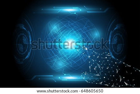 Hand touch global,touch the future abstract technology innovation concept #648605650
