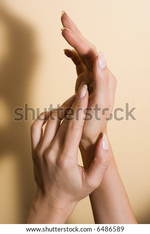 beautiful woman's hands with good manicure #6486589
