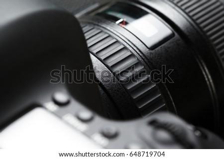 digital SLR camera #648719704