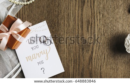 Will You Marry Me Proposing Card Marriage #648883846