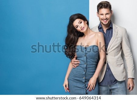 Fashionable picture of young people