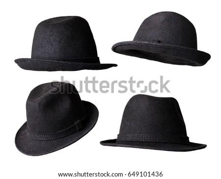 black hat isolated white background #649101436