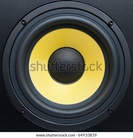 Low-frequency speaker (sub woofer) closeup #64910839