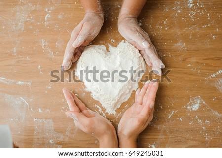 Chef preparing dough - cooking process #649245031
