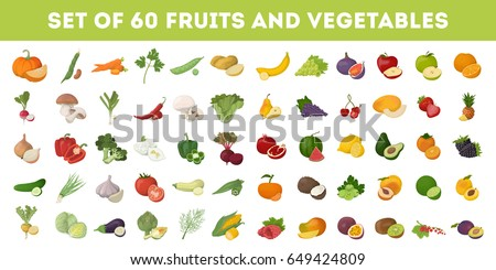 Fruits and vegetables. Royalty-Free Stock Photo #649424809