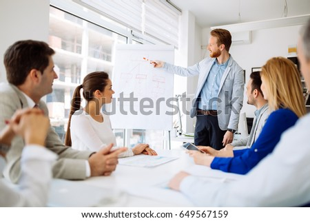 Presentation and training in business office #649567159