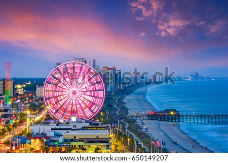 Myrtle Beach, South Carolina, USA city skyline. #650149207