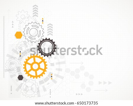 Abstract technological background. Vector illustration. Royalty-Free Stock Photo #650173735
