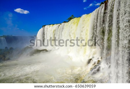 Waterfall close up landscape #650639059