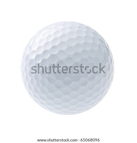 Golf ball isolated on white #65068096