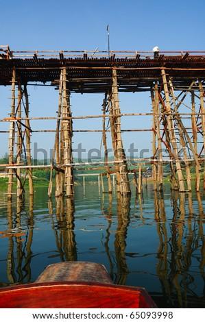 Wooden bridge in thailand #65093998