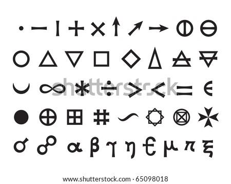 Basic Signs, Fundamental Elements and Mathematical Symbols #65098018