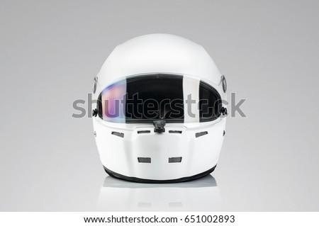 White racing helmet template Royalty-Free Stock Photo #651002893