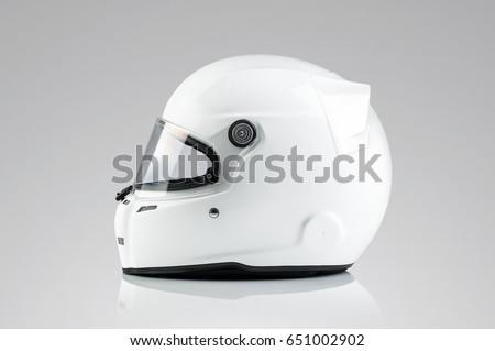 White racing helmet template Royalty-Free Stock Photo #651002902