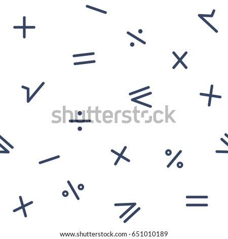 Universal vector fashion geometric seamless pattern. School ornament. Fabric textile elements. Mathematical background #651010189