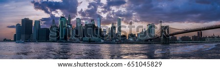 Skyline of Gotham City